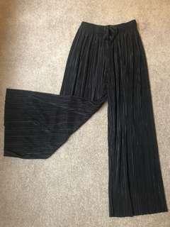 Black fabric pants