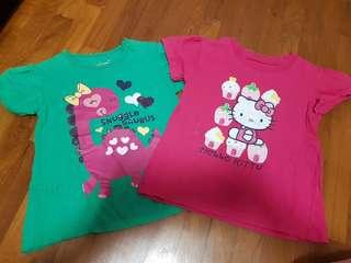 2 pcs of cotton tshirt