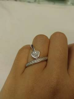 750 18k wg D023 6.48g diamond ring 23份鑽石介指