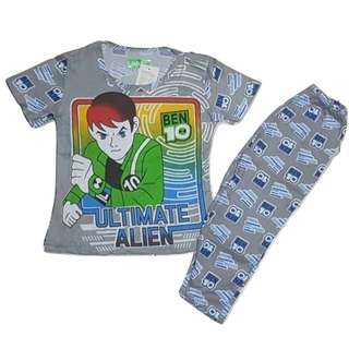 Ben 10 Ultimate Alien Pajama Terno for Kids Gray Blue Red