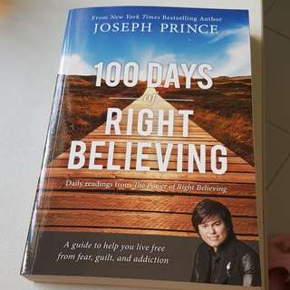 Christian book. 100 days of right believing by Joseph Prince