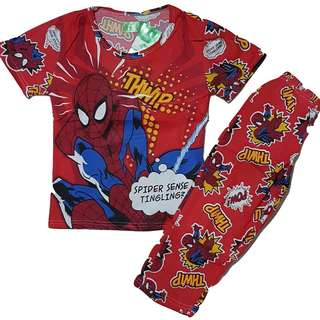 Spiderman Pajama Terno for Kids Blue