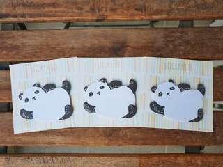 Panda post it sticky notes