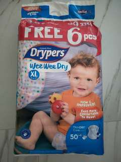 Dryers Wee Wee Dry Diapers Size XL 50+6pcs