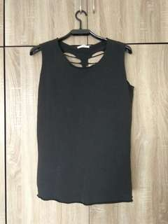 Black Top with skeleton cut out
