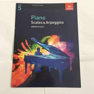 Abrsm grade 5 piano scales and arpeggios