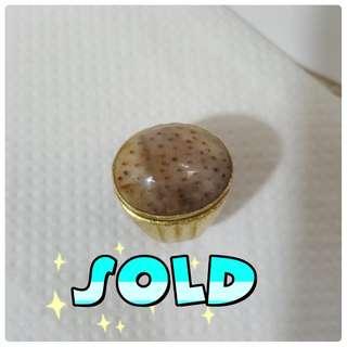 (SOLD)Fossil nibong bingkai tembaga( syarat ilmu kebal)