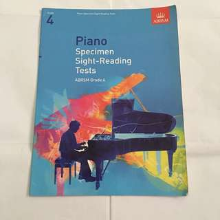 Abrsm grade 4 piano specimen sight reading test