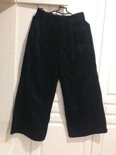🚚 GU絨布寬褲