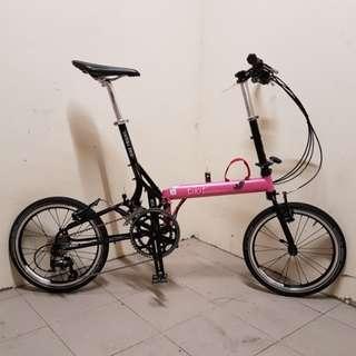 Bike Friday Tikit Impulse Fold Pink 20 Speed Folding Bike