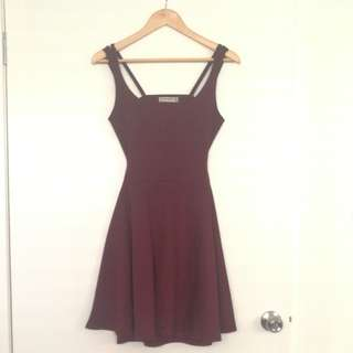 A Line Mahogany dress