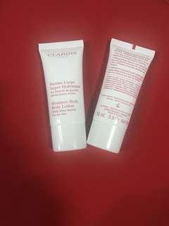Clarins moisture rich body lotion