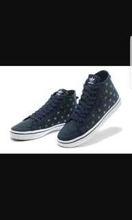 Adidas Womens Deep Blue Honeys Original Heeled Star Shoes