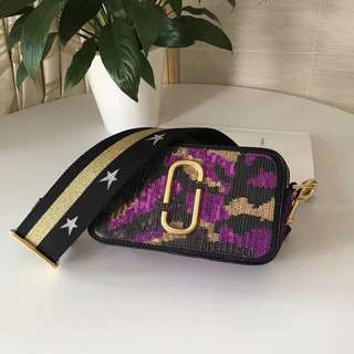 Marc Jacobs Snapshot Camera Bag - purple camo