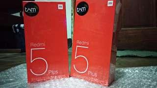 New XIAOMI REDMI 5 PLUS 3/32 Gb Black Garansi Resmi TAM