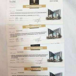 BAI Hotel Gift Vouchers