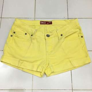 Free & Free Yellow Jeans Hotpants