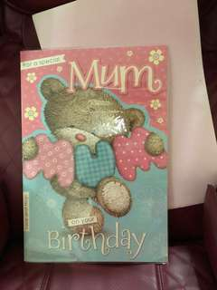 Birthday card/gift card/mother's day card/thank you card