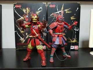 Marvel Tamashii Nation Ironman Spiderman samurai version action figure