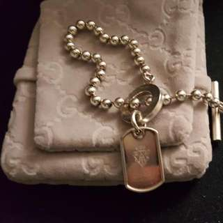 Authentic Gucci toggle bracelet/dog tag