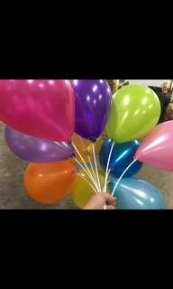 "Imported Korea 12"" Metallic Balloon"