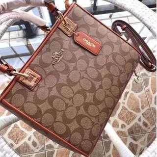 新款COACH 57568 美國正品 新款真皮女士戴妃包 手提斜挎包