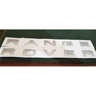 Emblem Silver Mate Mobil Range Rover Letters