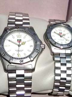 Tag Heuer Professional 200m Couple Set - White