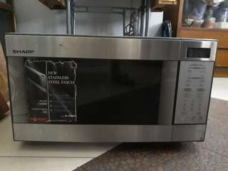 Sharp Stainless Steel Microwave