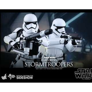 Star Wars Force Awakens 1/6 First Order Stormtroopers 2-pack Hot Toys