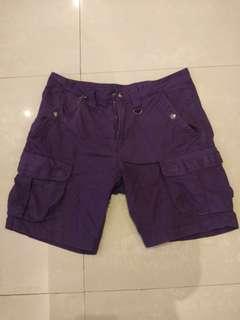 #超取半價 男Armani EXcgange 紫色短褲