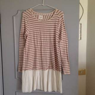 日本買回洋裝、長版上衣,棉95%。肩寬41公分、胸寬44,長78公分