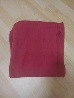 🚚 藏紅色厚版圍巾