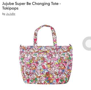 Jujube changing totebag