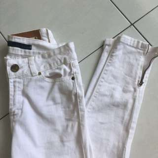 ZARA white HW pants