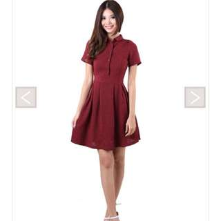 MGP Kloss Dress (maroon) brand new
