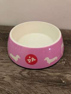 Peter Alexander pink dogs bowl