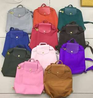 Longchamp bag pack authentic quality