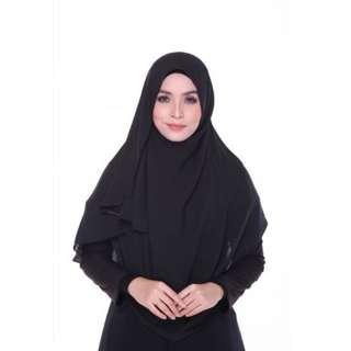 Shawl Instant MELLINA Double Loop Plain Black