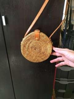 small rattan bag from bali