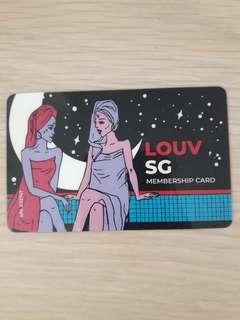 Louv sg membership card