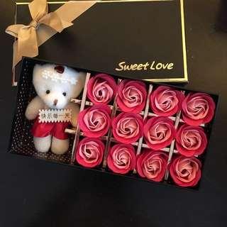 Soap rose flower