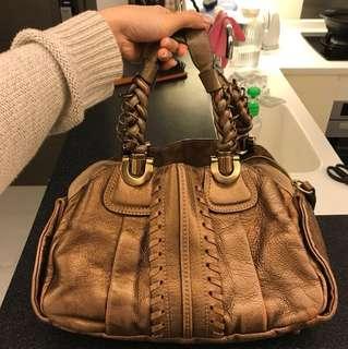 Chloe bronze leather bag