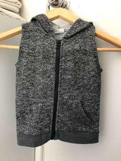 Grey hooded vest