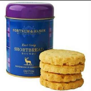 【英國皇家品牌】Fortnum & Mason Earl Grey Shortbread 下午茶必備餅乾 150g