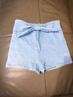 🚚 丹寧短褲 天藍