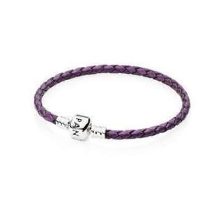 Pandora Single Woven Leather Bracelet