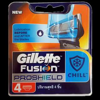 🚚 Gillette Fusion Proshield Chill Blade Cartridge Refills 4s