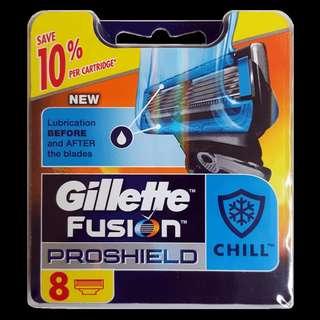 🚚 Gillette Fusion Proshield Chill Blade Cartridge Refills 8s
