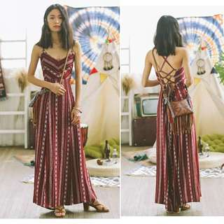 SINCE THEN Boho Maxi Slit Dress 60